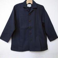 オリエンタル アロハシャツ (男性Mサイズ長袖) 紺黒濃淡模様厚地