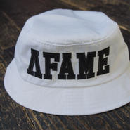 AFAME Patchwork Logo Bucket Hat White