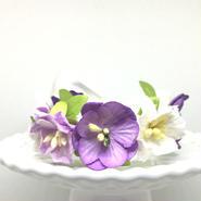 花冠「floral  purple・A」【S】サイズ