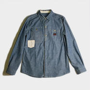 WORK POCKET CHAMBRAY SHIRTS (INDIGO)
