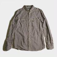 GINGHAM CHECK B.D. SHIRTS (BLACK)