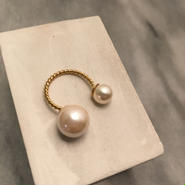 bubble pearl ring