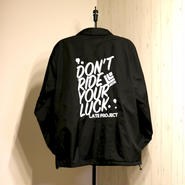20limited・Coach JKT『DON'T RIDE YOUR LUCK』BLACK×WHITE 【限定20着】