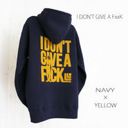 27 limited Parker『I DON'T GIVE A F××K』 NAVY×YELLOW