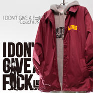 3days limited・Coach JKT『I DON'T GIVE A FxxK』BURGUNDY×YELLOW 【限定25着】