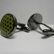 Dots Cufflinks   (GREEN)