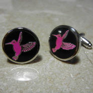 Humming Bird Cufflinks  (PINK)