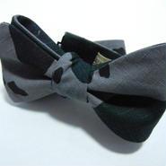 Flat Camo Butterfly Tie (GRAY)