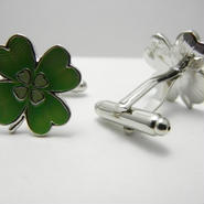 Clover Cufflinks   (GREEN)