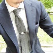 Big Stripe Tieclip  (WHITE)