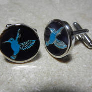 Humming Bird Cufflinks  (TURQUOISE)