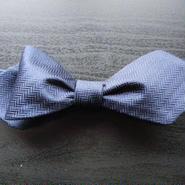 3P Silk Herringbone Butterfly Tie (Navy)