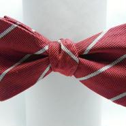 Flat Mini Butterfly Tie (Silk100%) WINE