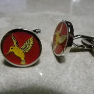 Humming Bird Cufflinks  (YELLOW)