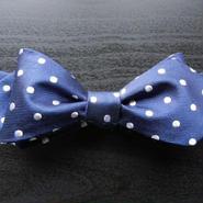 3P Silk Dots Butterfly Tie (Navy)