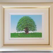 ☆版画「若葉の樹」