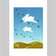 「うさぎちゃんの希望の風船」ポストカード