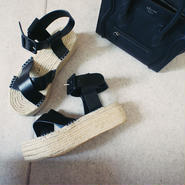 jute cross sandal