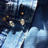 K18ダイヤモンド/ハーキマーピアス