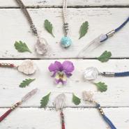 Gemstone / Cotton Code Necklace