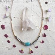 Turquoise /Buffalo Bone  Necklace