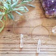 Single Crystal Hoop Earrings