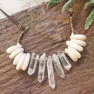 Crystal/Shell Necklace