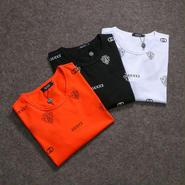 大人気 グッチ Tシャツ メンズファッション 3色  オレンジ