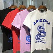 ディースクエアード 多色選択 人気 tシャツ 夏 激安 蛇 男女兼用 メンズ ウィメンズファッション