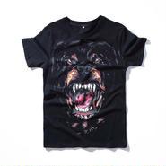 ジバンシィ 最新作 男女兼用 ブラック Tシャツ 犬