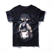 人気 ジバンシィ 最新作 男女兼用 ブラック Tシャツ 犬 メンズ ウィメンズファッション