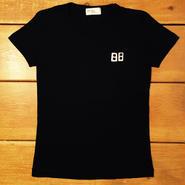 【一点もの】ふわふわフロッキーコインTシャツ [黒]