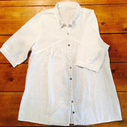 ☆ざっくりロングシャツ - ホワイト -