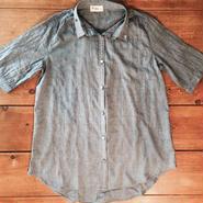 ★くったりロングシャツ- デニムカラー-