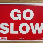 メッセージプレート GO SLOW IGSP79