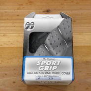 スポーツ グリップ ステアリング ホイール カバー グレー SS58-0450Y