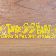 Take it Easy ステッカー (抜きタイプ) イエロー DM215YE
