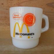 ミルクガラス FIRE KING McDonald's
