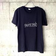 "T-shirts ""deceive"" BLACK"