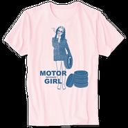 Motor Girl Tシャツ / aeronauts(PINK)