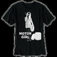 Motor Girl Tシャツ / aeronauts (Black)