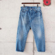 【unisex】Ordinary fits〈オーディナリーフィッツ〉 5POCKET ANKLE DENIM  (OM-P020) BLUE/USED加工