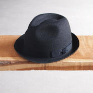 morno〈モーノ〉 JUTE BRAID MANNISH HAT BLACK/NATURAL