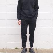 【unisex】FOB FACTORY 〈エフオービーファクトリー〉 RELAX SWEAT PANTS (F0404) BLACK