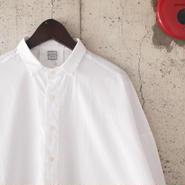 【women】a piece of Library〈ピースオブライブラリー〉 ペールブルーシャツ WHITE