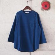 ELEVEN EIGHT〈イレブンエイト〉 インディゴ天竺 8分袖Tシャツ ONE WASH
