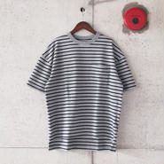 SUNNY SPORTS〈サニースポーツ〉 BORDER POCKET TEE (sn16s037) GREY×BLACK