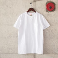 FOB FACTORY〈エフオービーファクトリー〉 US COTTON TUBE POCKET T-shirt (F7096) WHITE