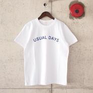 SEIRYU & Co.〈セイリューアンドコー〉 USUAL DAYS Tee WHITE
