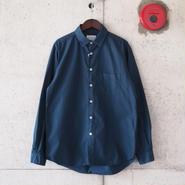 Manual Alphabet〈マニュアルアルファベット〉 LOOSE FIT レギュラーカラーシャツ NAVY